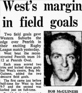 Bob McGuiness match report 1967