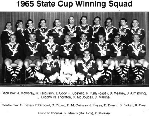 Wests 1965 State Cup winning squad
