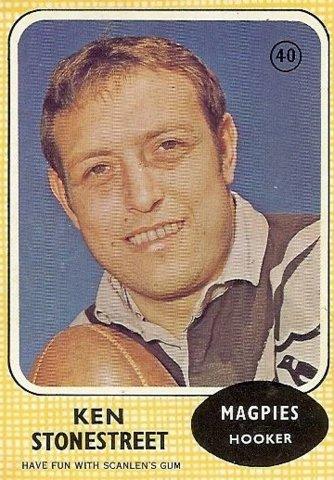 Ken Stonestreet footie card 1971