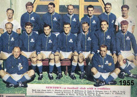 Newtown 1955 color team photo.