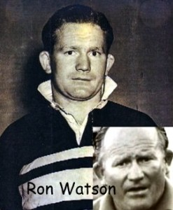 Ron Watson old head shot and 1970 photo