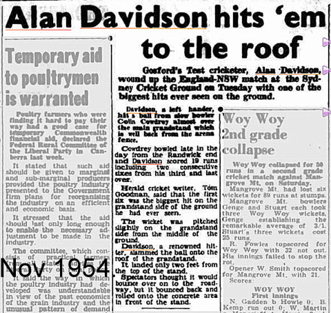 Alan Davo hits six on roof
