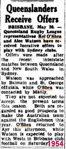 Kel receives offer 1954