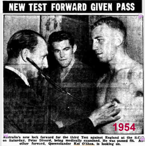 Kel with Peter Diversi and doctor 1954