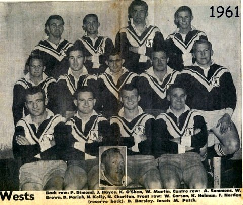 Wests team photo 1961 PP dressing room 2