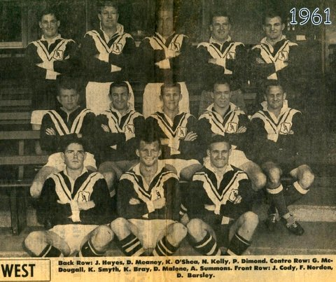 Wests team photo  1961 SCG