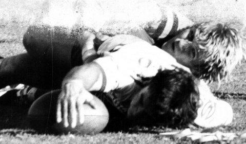 Steve scoring try 1979 v Balmain