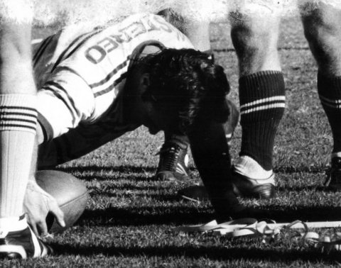 Steve scoring try for Manly 1979