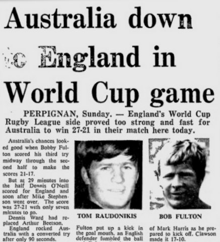 1972 World Cup v England