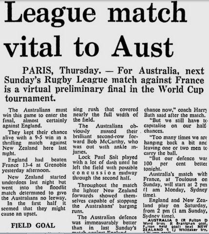 1972 World Cup v France