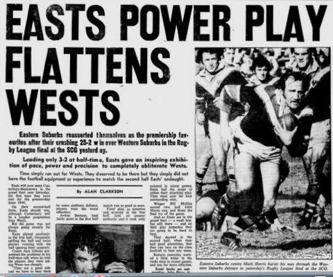 1974 Wests V easts