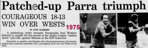 1975 play off v Parra.