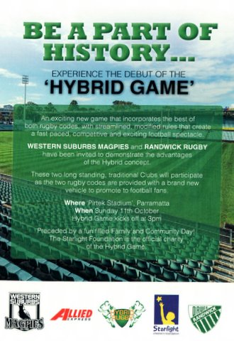 Hybrid Game advert.