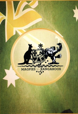 Magpies to Kangaroos poster.
