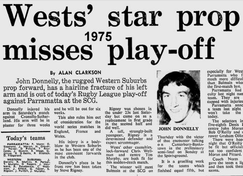New John Donnlly Wests v Parr Playoff 1975