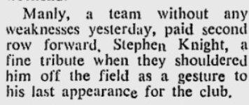 new steve last game. 1979
