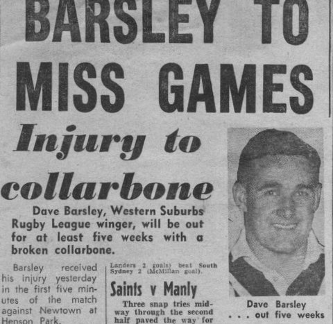 1960 Dave broken collarbone.