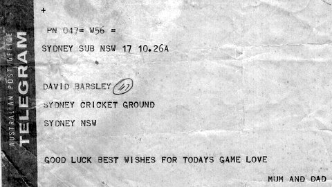 1961 Telegram from Mum and dad before GF