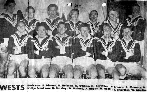 1961  Wests team photo Harry Wells
