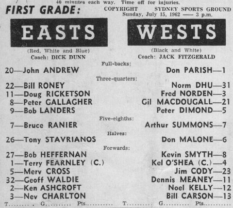 1962 David Dhu only 1st grade game