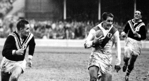 1962 Wests v Saints @ SCG John Riley, Bill Carson, Dave Brown.
