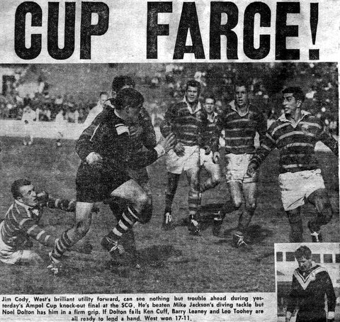 1963 Wests win Ampol Cup story J Cody photo.