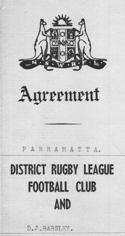 1964 Agreement to play with Parra.