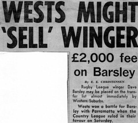 1964 Story about Wests selling Dave to Parra.