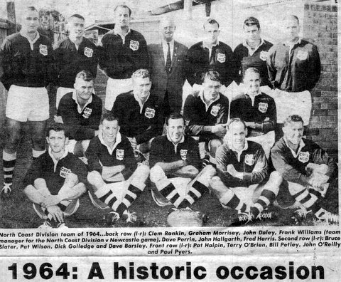 1964 Team photo North Coast side to play France