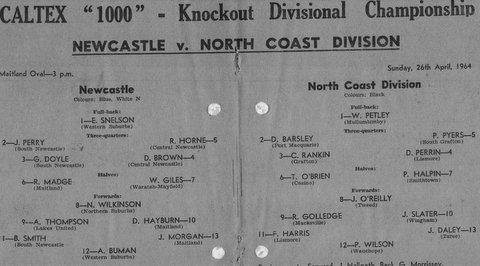 1964 dave playing wing for Noth coast div v Newcastle