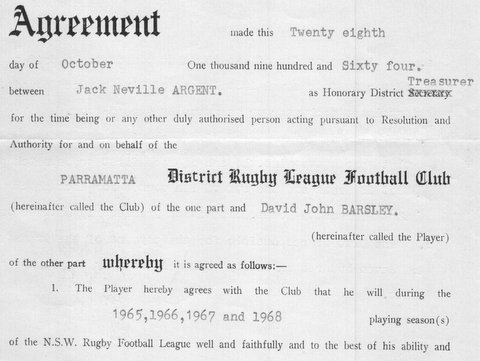 1964 signed agreement with Parra