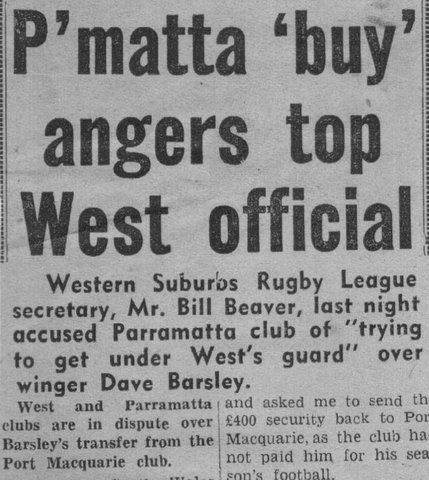 1964 story part 2 Dave going to parra