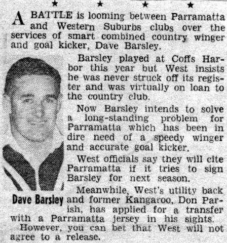 1964 story part 3 Dave going to parra