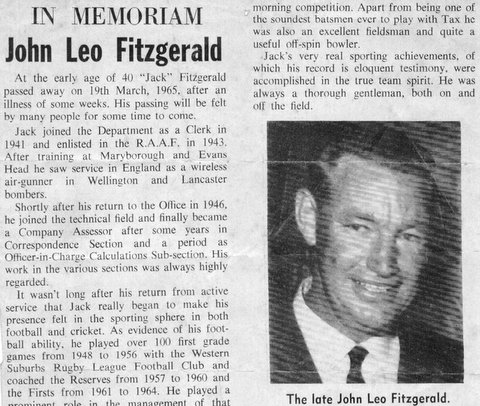 1965 Jack Fitzgerald RIP