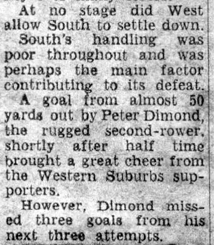 1965 story about PD kicking 50 yard goal.