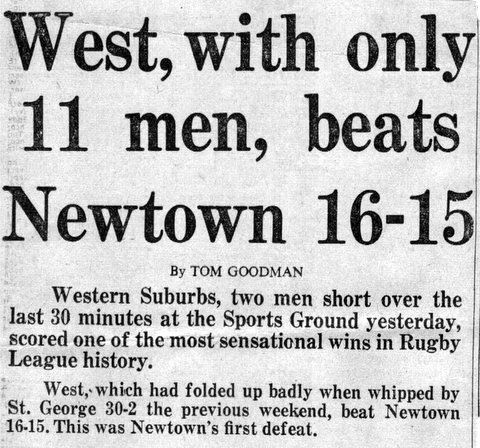 1966 Big Wests v Newtown. story