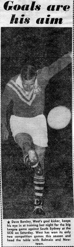 1966 Dave kicks @ Pratten Park pic