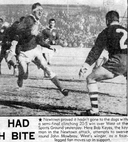 1966 Wests v newtown playoff pic. John Mowbray.