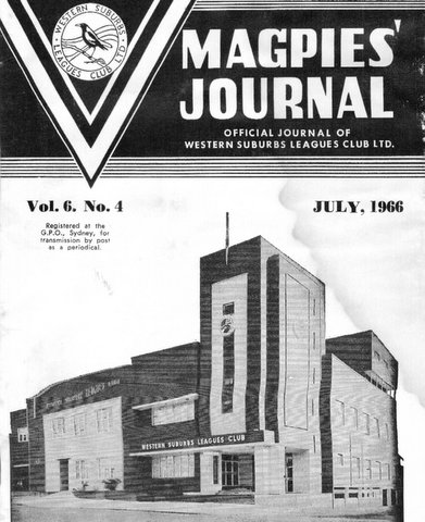 1966 front cover of Magpies Journal