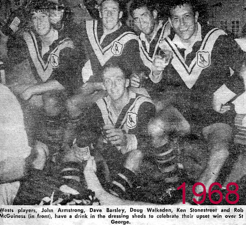 1968 Team photo after beating St George at Liddy Oval.