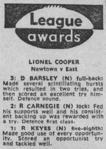 1969 dave award write up