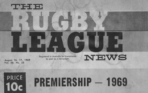 1969 front cover of RL program