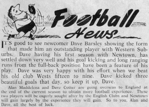 1969 story about dave at newtown