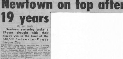 1970 newtown win endvores cup