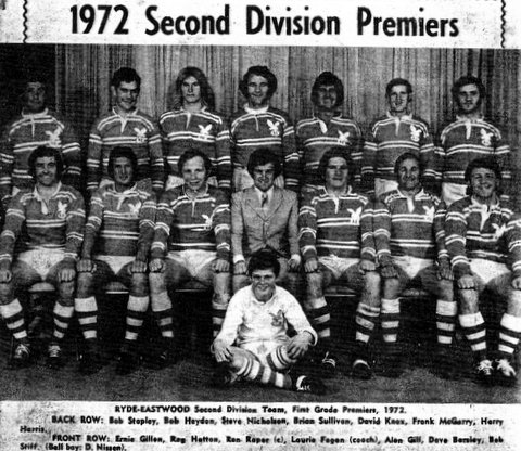 1972 Ryde Eastwood Team photo