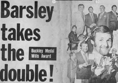 1972 buckley medal award night.