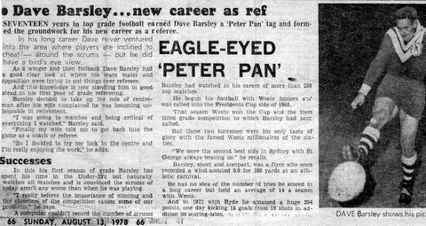 1978 story about dave becoming a referee