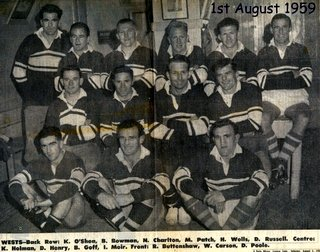 Wests team photo 1959 PP dressing room