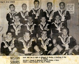 Wests team photo 1965 PP dressing room