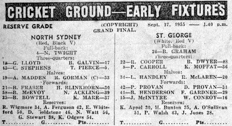 1955 b Stg V Norths GF program